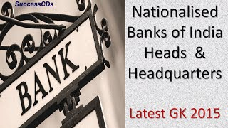 Bank and Bank Heads - Banking General Knowledge 2015