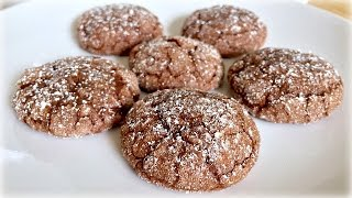 Chocolate Sparkle Cookies - Flourless Chocolate Cookie Recipe