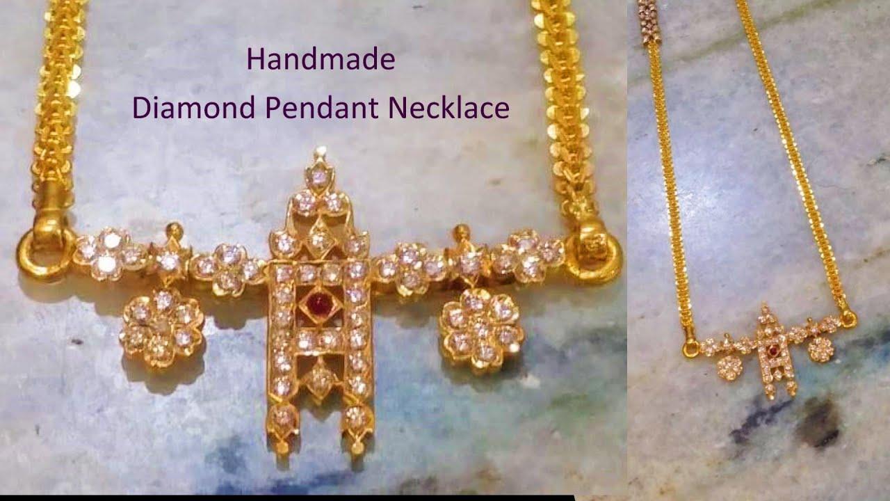 Making Traditional Diamond Pendant Diamond Thirumangalyam Chettinad Diamond Necklace 50 Youtube