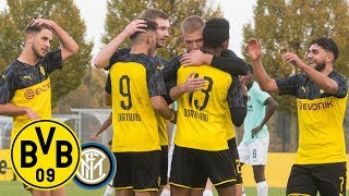 Knauff scores & Unbehaun saves! | BVB U19 - Inter Milan U19 2:1 | Highlights - UEFA Youth League