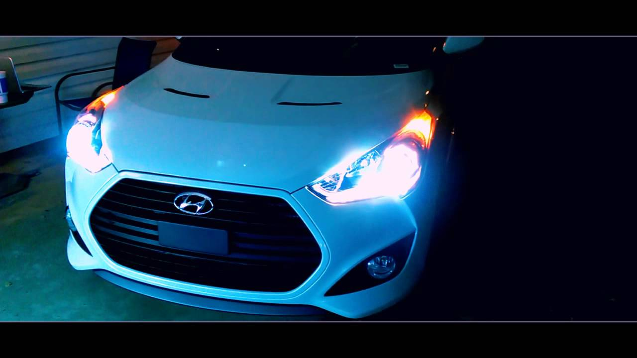HID installation on a Turbo Veloster on