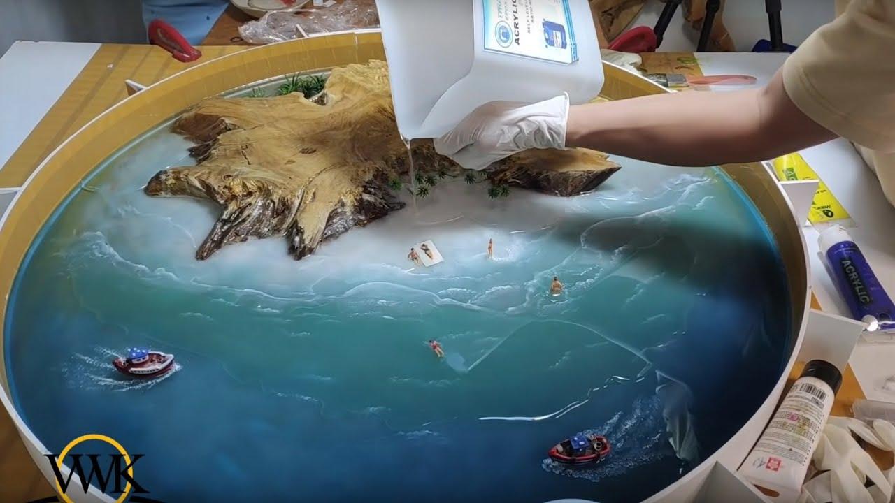 Amazing table of ocean epoxy