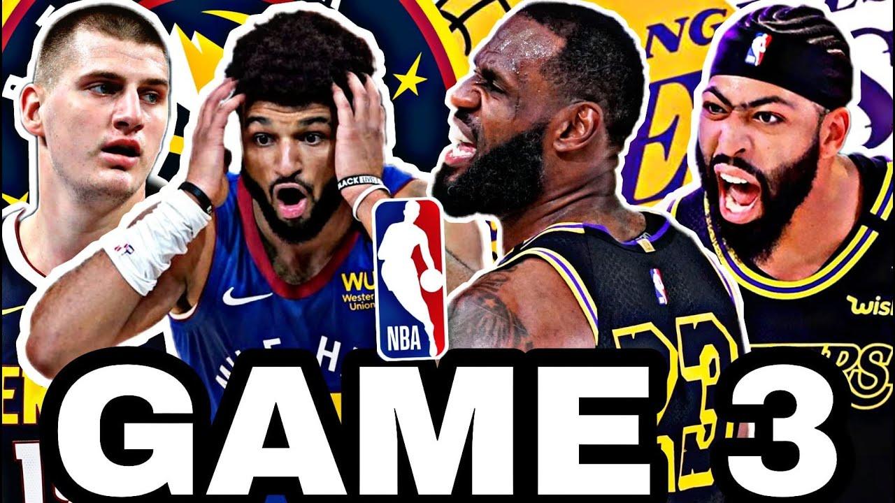🟡EN DIRECTO: LOS ÁNGELES LAKERS vs DENVER NUGGETS GAME 3 🔥 NBA PLAYOFFS 2020