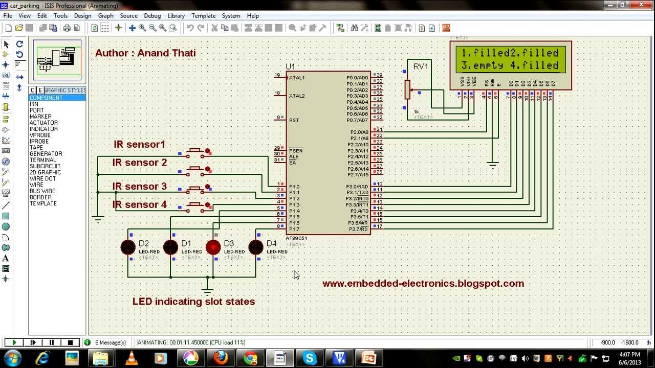 Automatic car parking system using microcontroller project report pdf