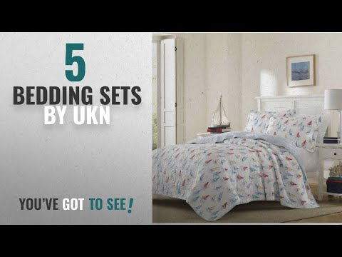 Top 10 Ukn Bedding Sets [2018]: 3 Piece Nautical Blue White Red Yellow Full Queen Quilt Set,