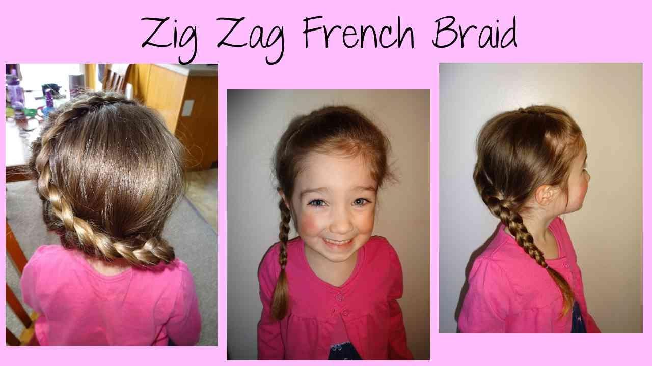 Zig zag french braid tutorial youtube zig zag french braid tutorial ccuart Images