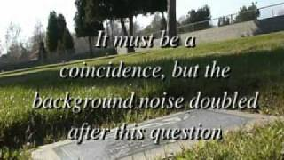 Ghost Hunt EVP San Jacinto Valley Cemetery intitial walk through