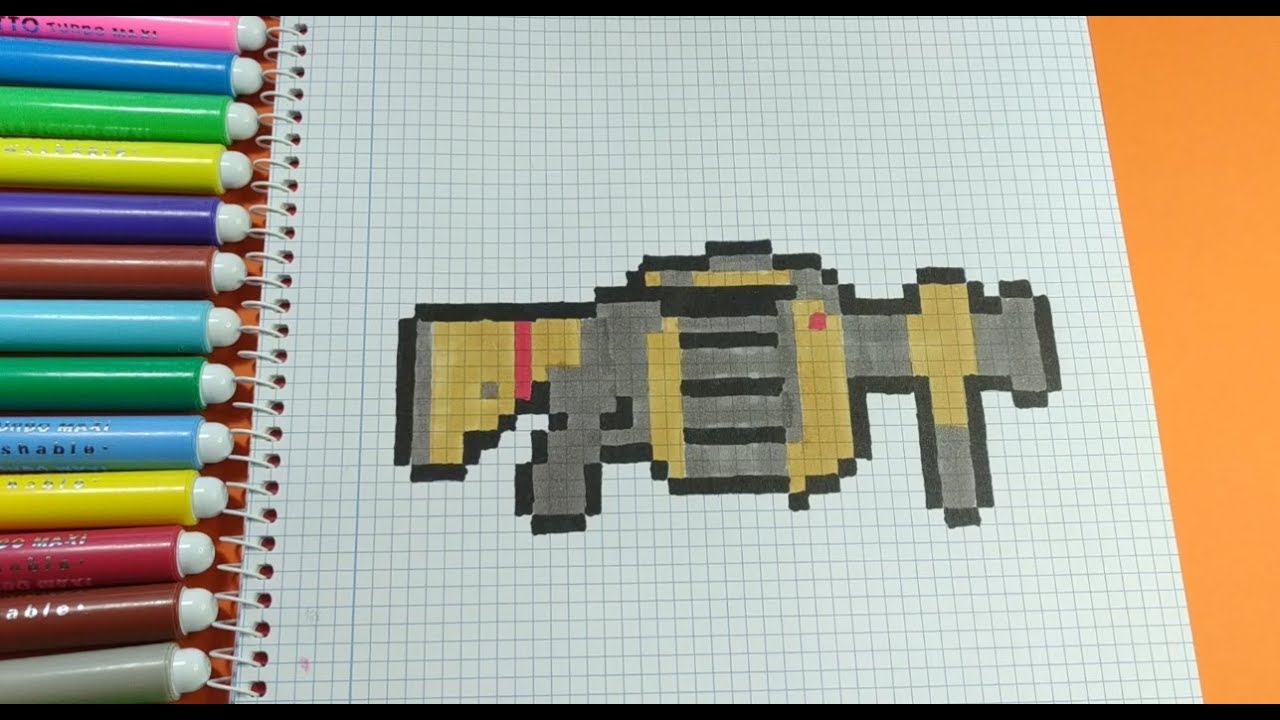 Como Hacer El Lanzagranadas De Fortnite Pixel Art