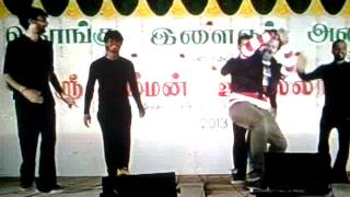 Vinolayadance variety Stage show- Vinod as Vijay sethupathy in Prayer song dance