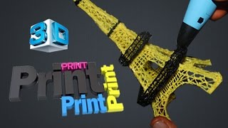 DIY Magic Draw Anything 3D Printing Pen Tutorial Eiffel Tower