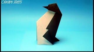 оригами из бумаги для начинающих Пингвин