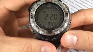 Обзор часов Casio ProTrek PRG-260-1E - видеообзор часов  для спорта от President Watches