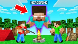 HUNTING For HEROBRINE In MINECRAFT