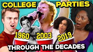 College Kids React To 7 WILDEST College Parties In Film and TV