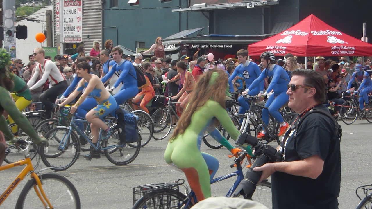 Fremont nake bike ride 2008