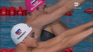 THOMAS CECCON -  EUROPEAN SWIMMING CHAMPIONSHIP  di Glasgow 2018  50 do semifinale 25.50