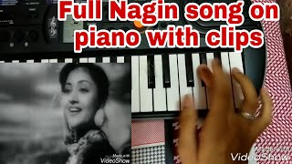 Nagin song on piano with clips,1954,Casio sa-77,Full song piano tutorial,nagin been,with tabla beat