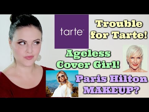 What's Up in Makeup NEWS! Tarte Makes Mistakes, Another Cover Girl, and Paris Hilton Makeup?