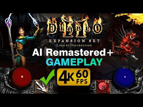 Diablo 2: AI Remastered Widescreen Gameplay 4K 60fps [Sorceress]