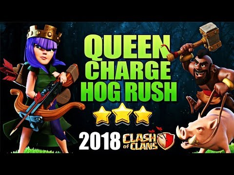 How to QueenWalk Mass Hogs - TH10 Attack Strategy for 3 Stars   Th10 QueenWalk   Th10 Best COC