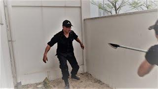 Hướng dẫn tự vệ tay không chống phóng lợn -  khi không còn đường chạy - Mr. Huy Côn