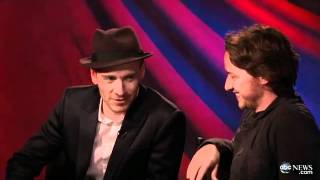 Michael Fassbender and James Mcavoy Singing