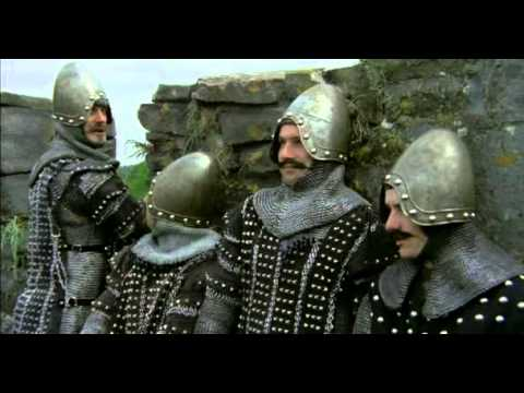 The Monty Python and Holy Grail, The English meet the French castle - French subtitles