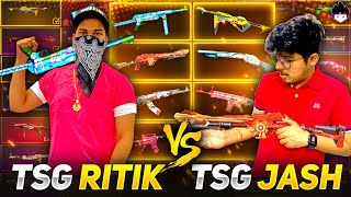 Best Legendary Gun Collection Versus|| TSG Jash Vs TSG Ritik -Toughest competition ||Garena FreeFire