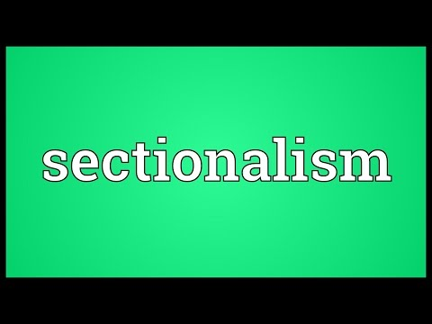 Header of sectionalism