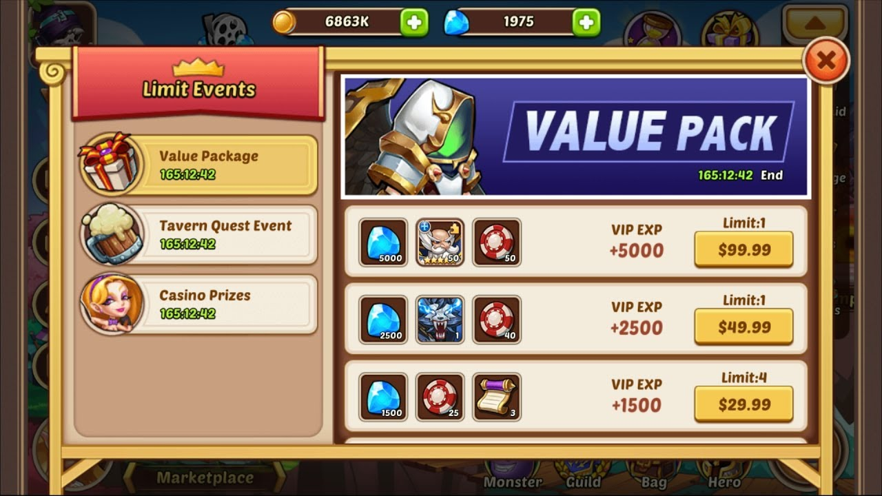 idle heroes casino event