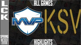 Video MVP vs KSV Highlights | LCK Week 3 Spring 2018 W3D1 download MP3, 3GP, MP4, WEBM, AVI, FLV Juni 2018