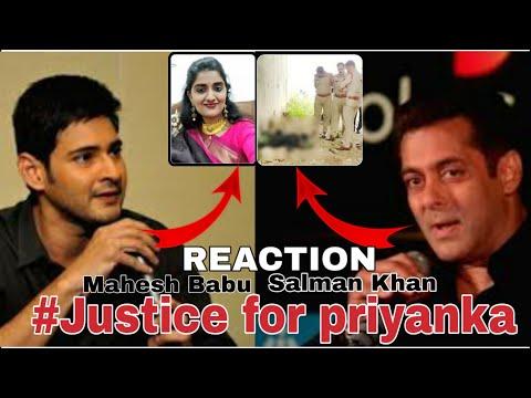 Mahesh Babu about Priyanka Reddy rape Murder   Salman Khan reacts to priyanka reddy brutal rape Mp3