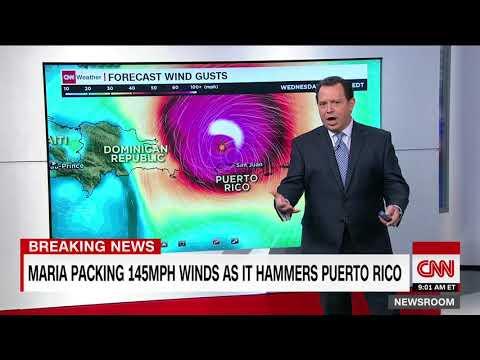 Category 4 Hurricane Maria slams into Puerto Rico
