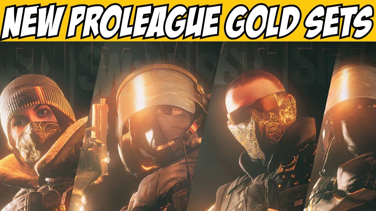 New Rainbow Six Siege Pro League Gold Sets Limited Time for Frost Blitz  Pulse Montagne
