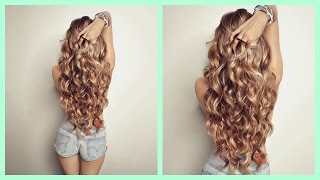 Cómo hacer Ondas o rizos sin calor! Sin Dañar tu cabello! Heatless Curls CINDYLIMON