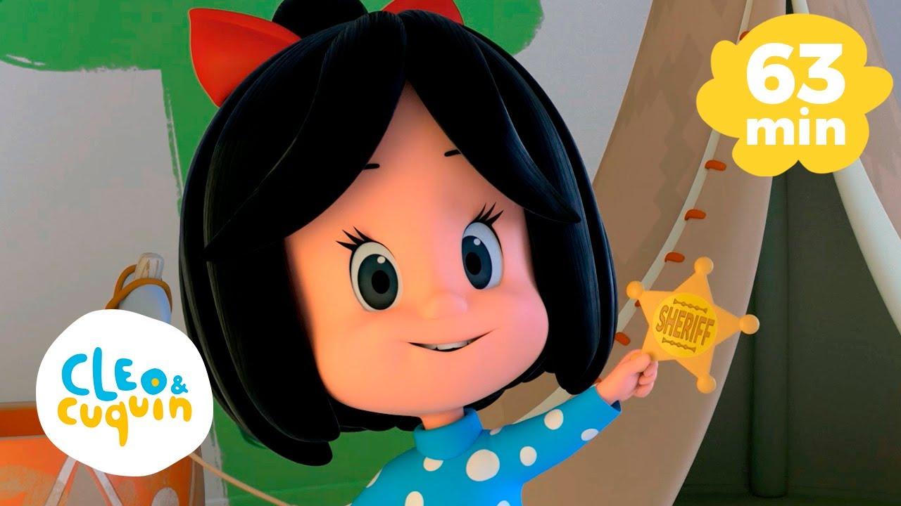 Estrellita donde estás y más canciones infantiles con Cleo y Cuquín   Familia Telerin