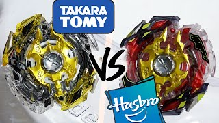 HASBRO VS TAKARA TOMY: Legend Spryzen .7.Mr VS Legend Spriggan .7.Mr - Beyblade Burst God/Evolution