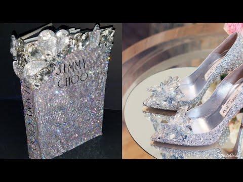 DIY : GLAM FASHION DESIGNER COFFEE TABLE BOOK USING DOLLAR TREE BOOKS | JIMMY CHOO CINDERELLA HEELS