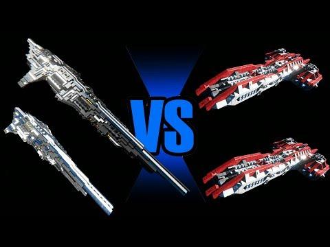 Space Engineers - EPIC Fleet Battle ( EP9 :Sovereign Titan  )