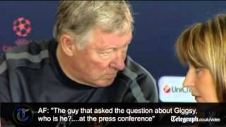 Champions League final: Sir Alex Ferguson moves to ban journalist for asking about Ryan Giggs
