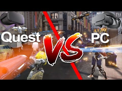 Oculus Quest VS PC - ROBO RECALL - Graphics side-by-side Comparison