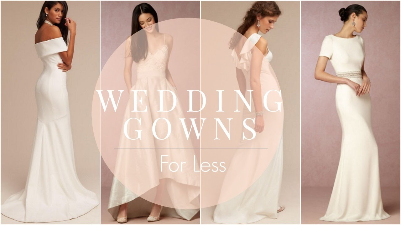 Wedding Weekend: Gorgeous Wedding Gowns for Less - YouTube