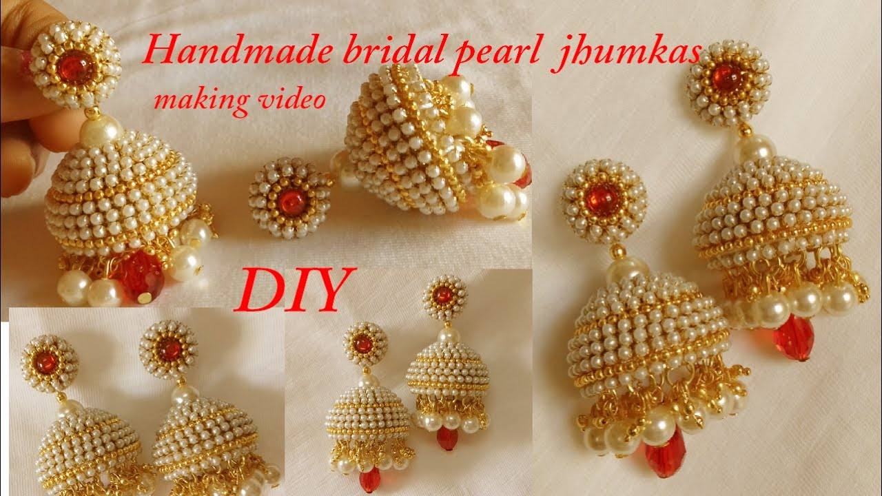 Diy How To Make Designer Silk Thread Bridal Jhumka Earrings At Home Handmade Tutorial