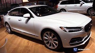 2018 Volvo S90 T8 Inscription - Exterior Interior Walkaround - Debut 2017 New York Auto Show