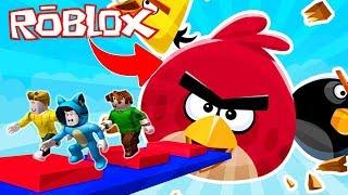 BEBE MILO VIAJA A LA DIMENSIÓN DE ANGRY BIRDS 😱 ROBLOX OBBY