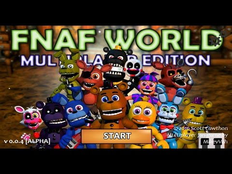 Five Nights at Freddy's (FNAF) World Multiplayer Edition (BattleGrounds) Gameplay