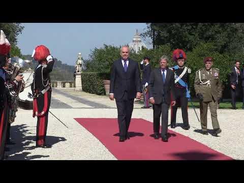 Il Presidente Gentiloni incontra il Primo Ministro della Repubblica d'Albania Edi Rama (11/10/2017)