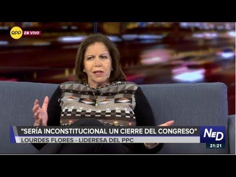 """Lourdes Flores: """"Sería inconstitucional un cierre del Congreso"""""""