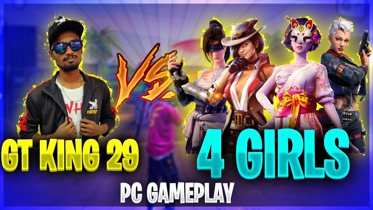 ?Gaming Tamizhan Vs 4 Girls ?| Pc Ultra GamePlay | Free Fire Best Ever Pc Gameplay Tricks&Tips T
