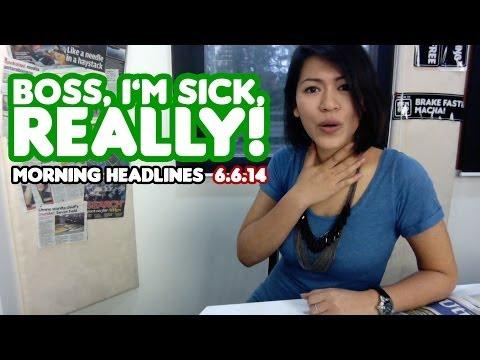 Boss, I'm Sick, Really! [Morning Headlines]